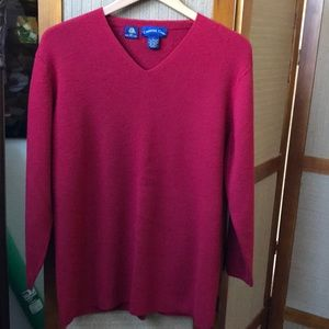 CHARTER CLUB RED WOOL SWEATER SIZE L